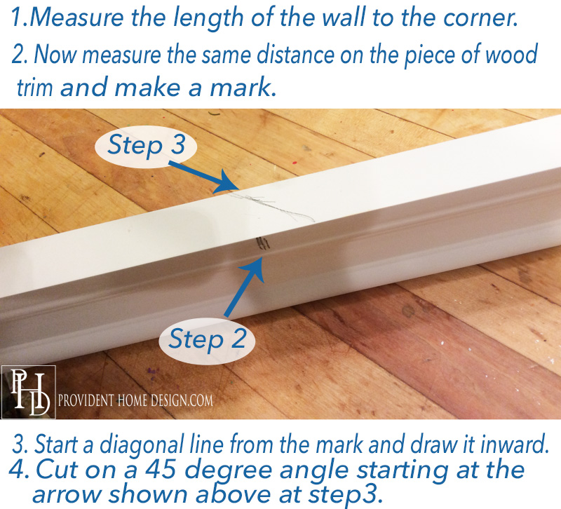 How to put of faux crown molding