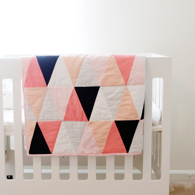 Triangle Fabric Quilt Tutorial
