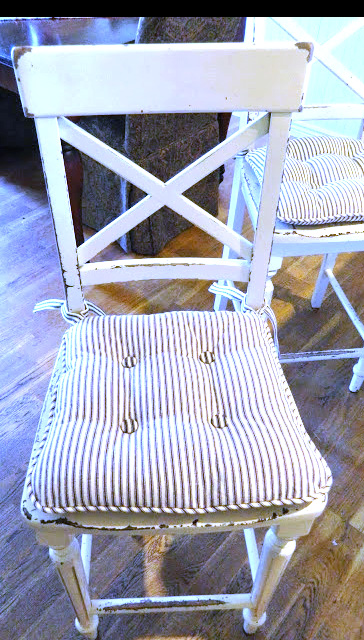 fabric chair pad tutorial