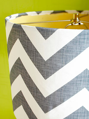 how to add fabric to lampshaded