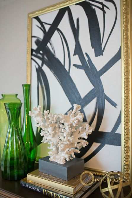 Amanda Carol Interiors Emerald Green Gold Mirrors: Provident Home Design