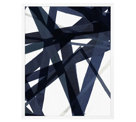 Pottery Barn indigo-matrix-print