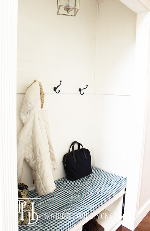Closet turned Mudroom