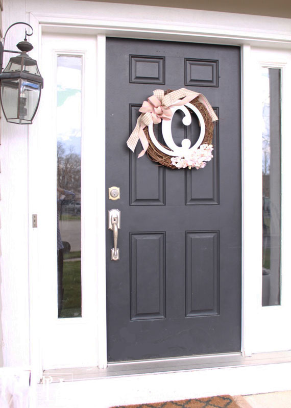 DIY Spring Wreath for Front Door