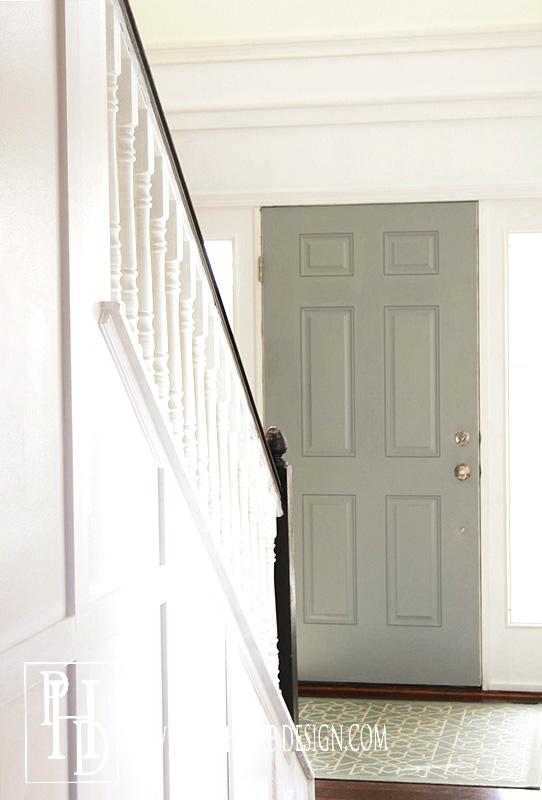 Gray Painted Front Door