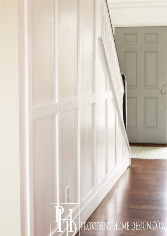 Hallway Makeover Wood Trim