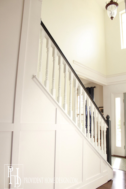 entry and hallway makeover