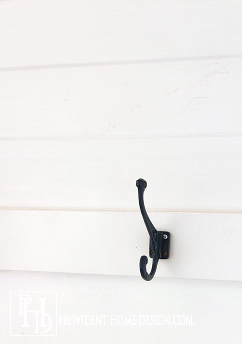 Paint BM Pure White Mudroom Hook