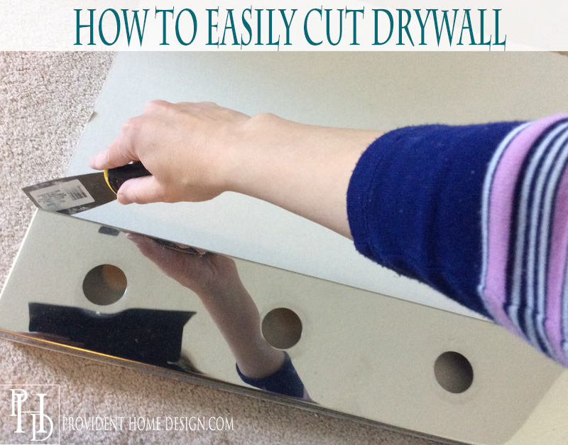 How to cut drywall easily