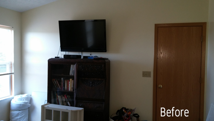 Bedroom Makeover Before Gallery Wall