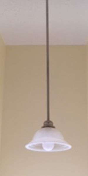 DIY Orb Light Fixture Before