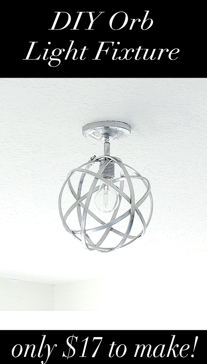 DIY Orb Light Fixture Tutorial