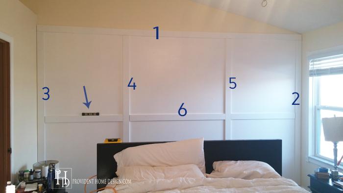 DIY Wood grid wall tneatment