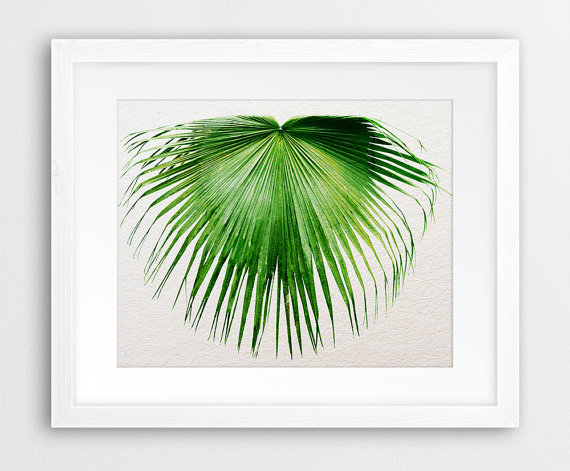Etsy Printable Tropical Leaf