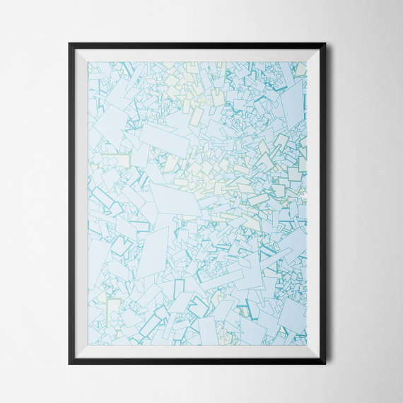 Etsy Printables Abstract blue