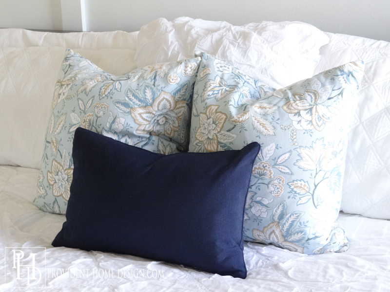 Beautiful bedroom makeover on a budget Master bedroom throw pillows