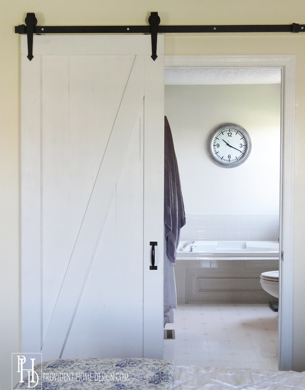 Master Bedroom Barn door Bathroom