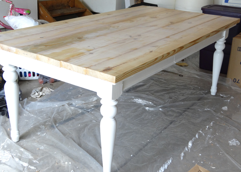 DIY Farmhouse Table After