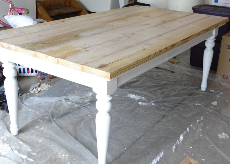 DIY Farmhouse Table After
