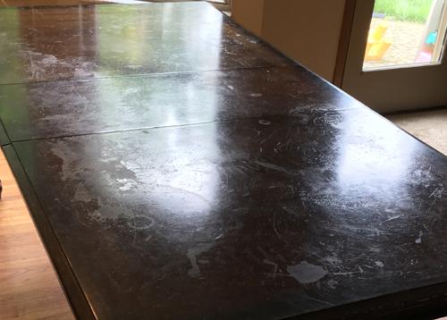 DIY Farmhouse Table Before