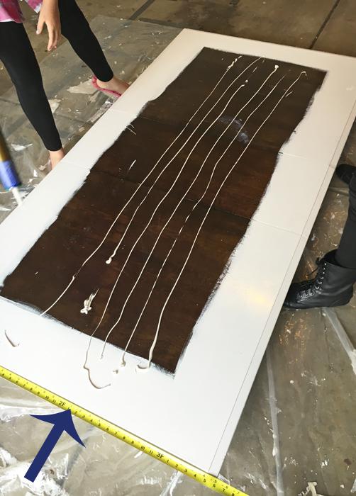 DIY Farmhouse Table Liquid Nails