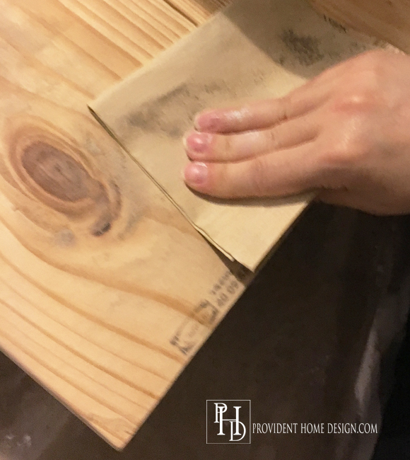 DIY Farmhouse Table Sanding