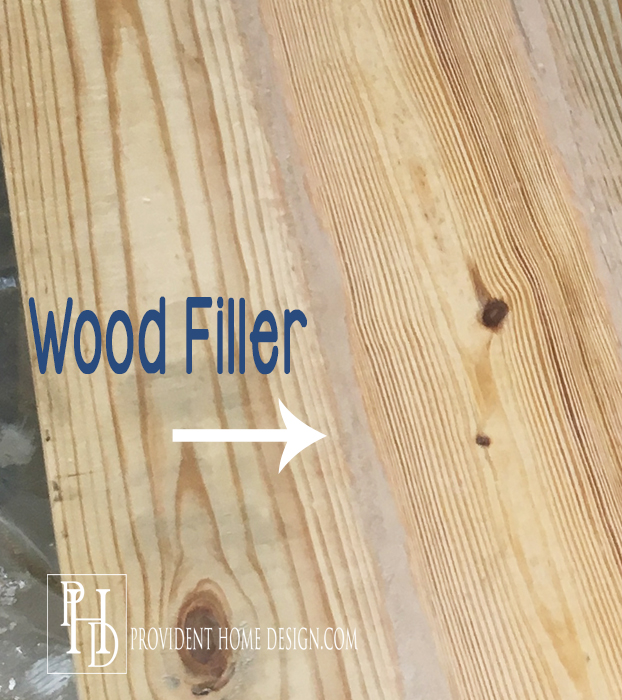DIY Farmhouse Table Wood Filler