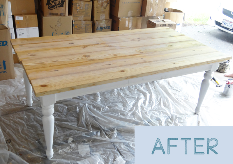 diy farmhouse table top Beat up Table Turned Beautiful Farmhouse Table   Provident Home Design diy farmhouse table top