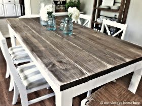 our vintage home love diy farmhouse table
