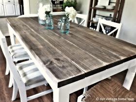 our vintage home love diy farmhouse table