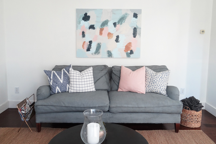 Living Room Painted Couch