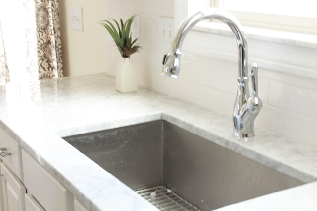 Marble Countertops and Sink Faucet