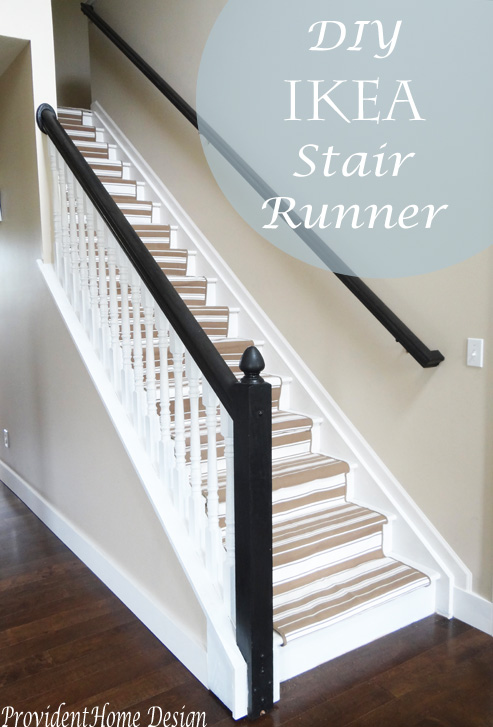 DIY Ikea Stair Runner