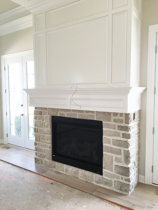 Parade of Homes Brick Fireplace