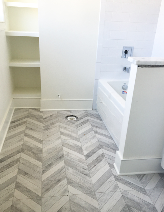 Parade of Homes Herringbone Floor