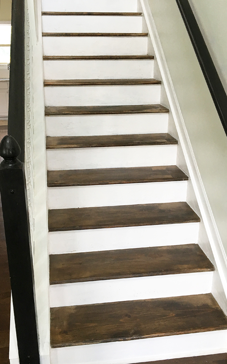 Stair Makeover Finished Stain Stairs