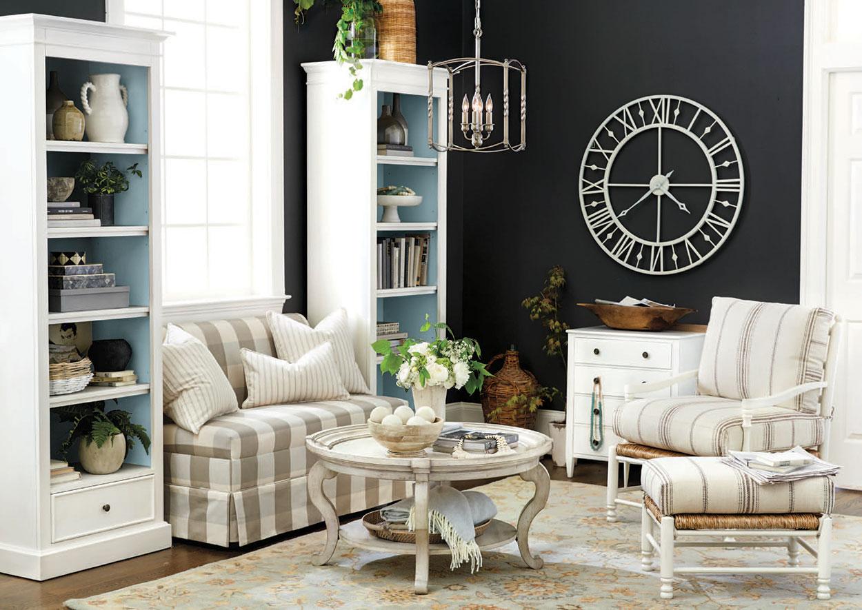 ballard-designs-bookshelf-styling