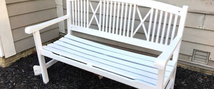 Outdoor Bench Makeover & Best $15 Sander Around