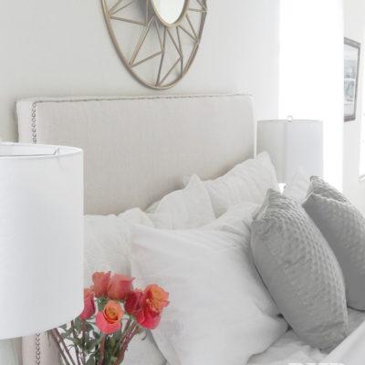 Beautiful Upholstered Headboard and Nailhead Trim Tutorial