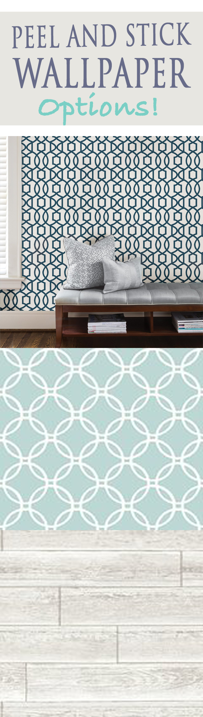 Peel and Stick Wallpaper Options