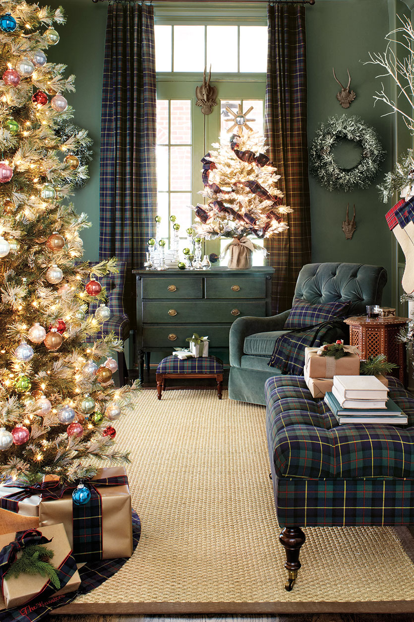 ballard designs plaid christmas - Plaid Christmas Decor