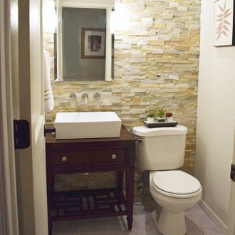 DIY Stone Feature Wall