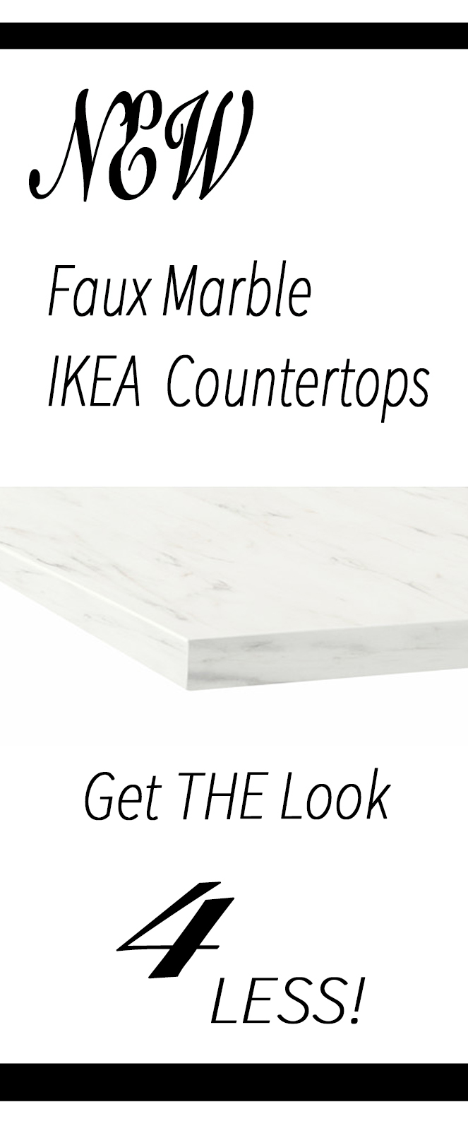 `1NEW Faux Marble Ikea countertops