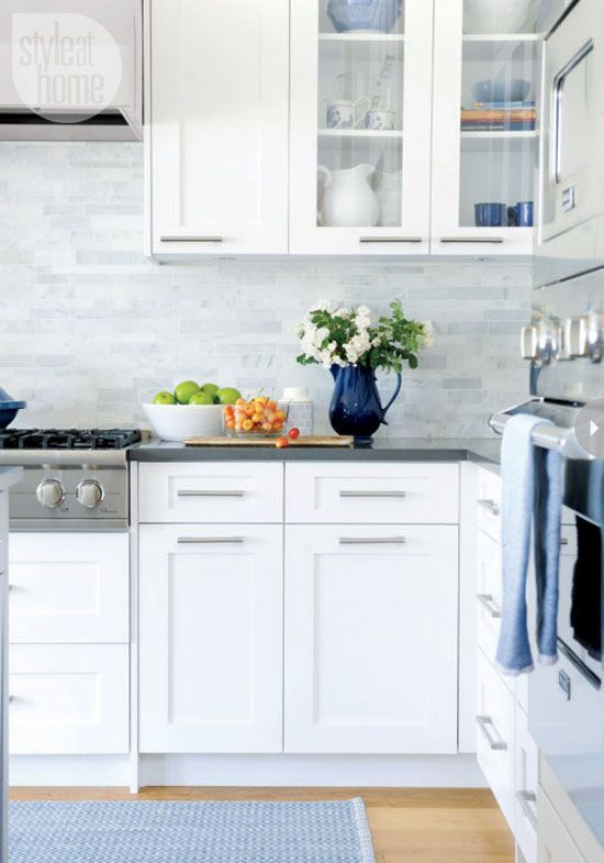 DIY Glass Cabinets in Kitchen