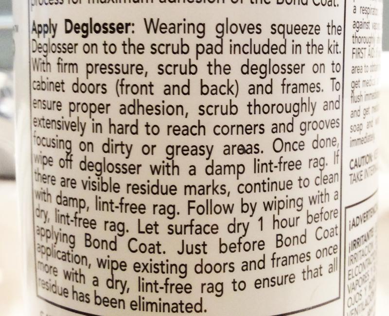Deglosser Instructions