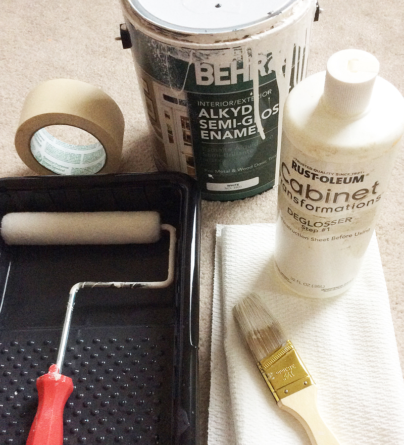 Supplies for Painting Cabinets