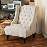 Clerice Wingback Chair in Beige