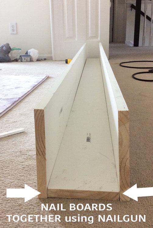 DIY Ceiling Beam Step 2