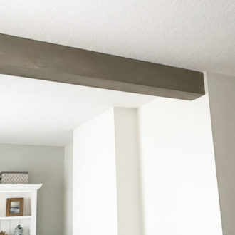 One Room Challenge Week 3- DIY Ceiling Beam