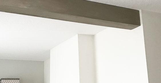 One Room Challenge Week 3- DIY Ceiling Beam